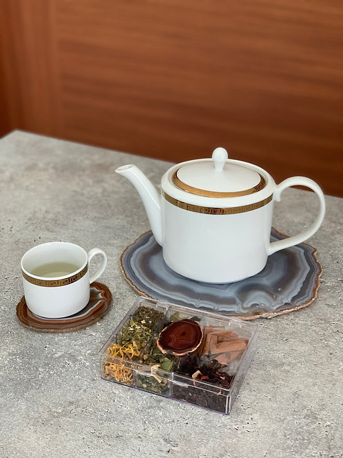 Kit chá Ágata vermelha