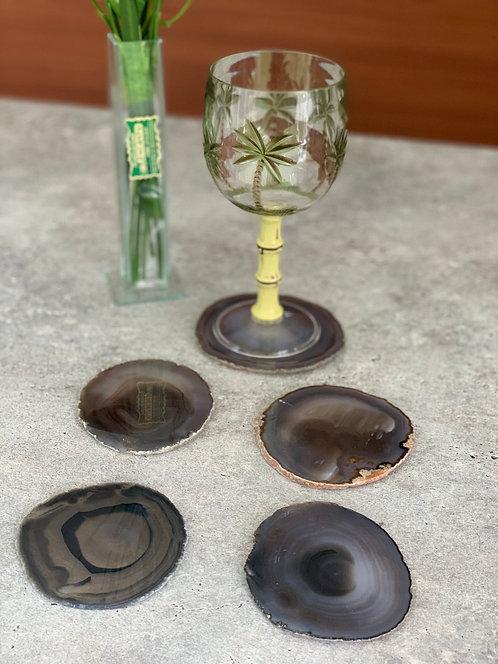 Porta-copos Ágata cinza escuro
