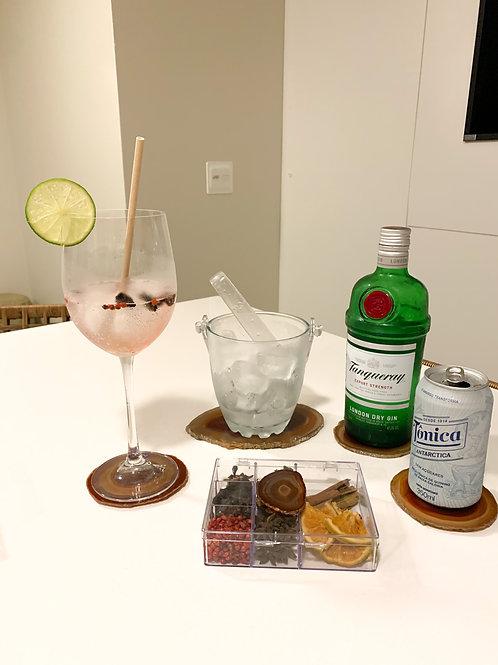 Kit Gin em Ágata vermelha