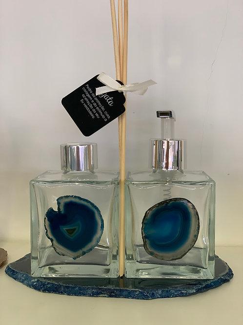 Difusor e Saboneteira Ágata Azul III
