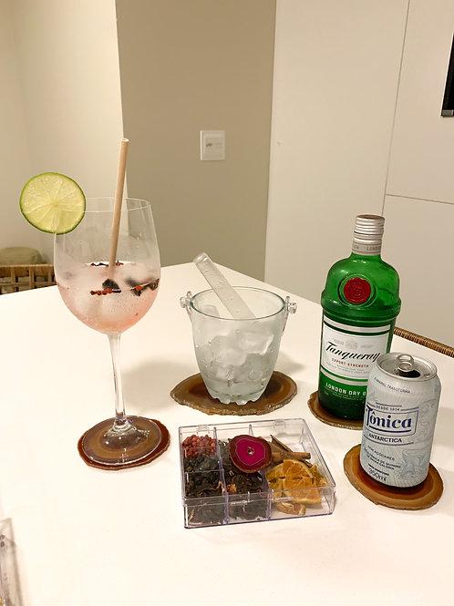 Kit Gin em Ágata rosa
