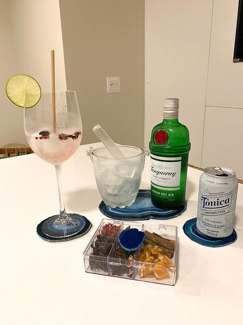 Kit Gin em Ágata azul II