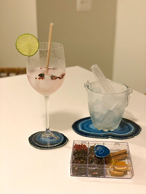 Kit Gin em Ágata azul I