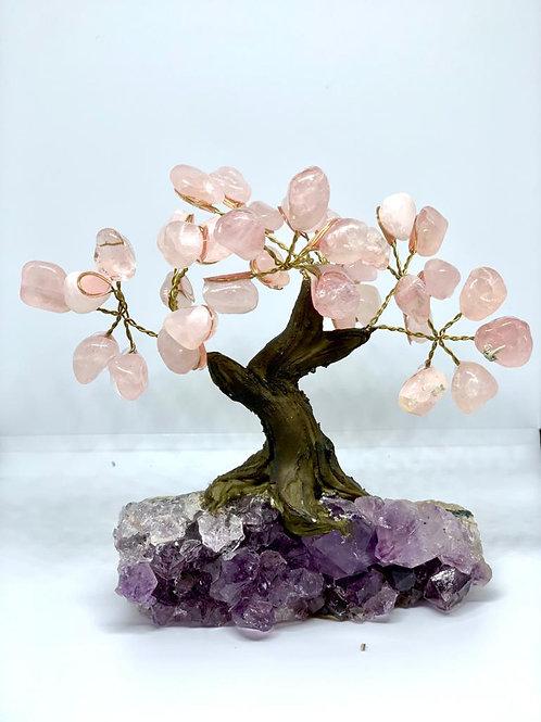 Árvore Quartzo rosa 10cm