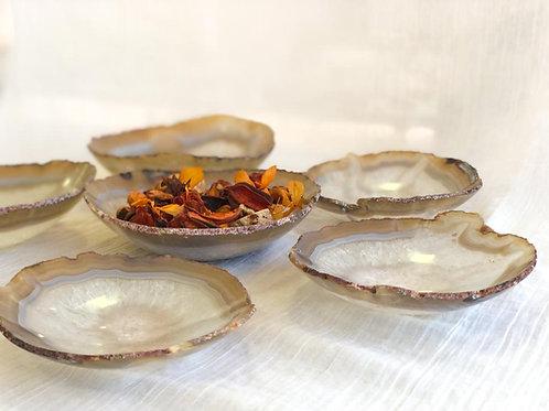 Tigelas em Ágata tons cinzas - bowl