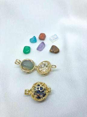 Pingente 7 pedras naturais delicante zen