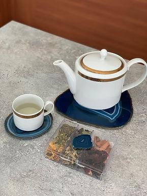 Kit chá Ágata azul
