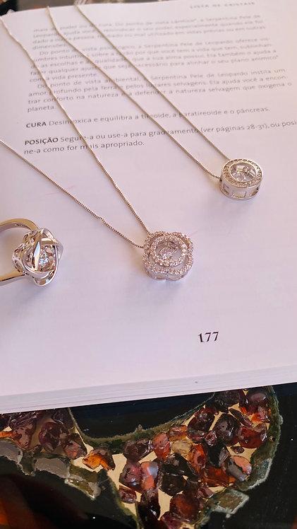 Colar Cristal prata 925