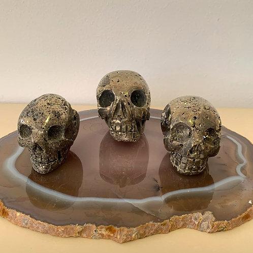Crânio em Pedra Pirita.
