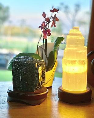 Luminária de Selenita - P