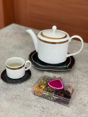 Kit chá Ágata rosa
