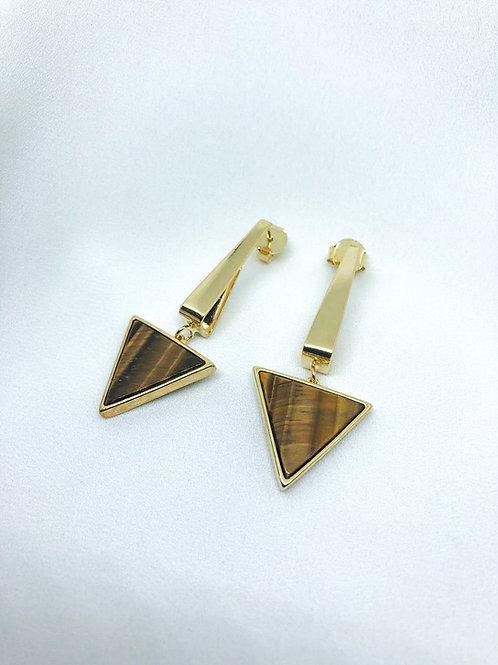 Brincos em Pedras Triangular.