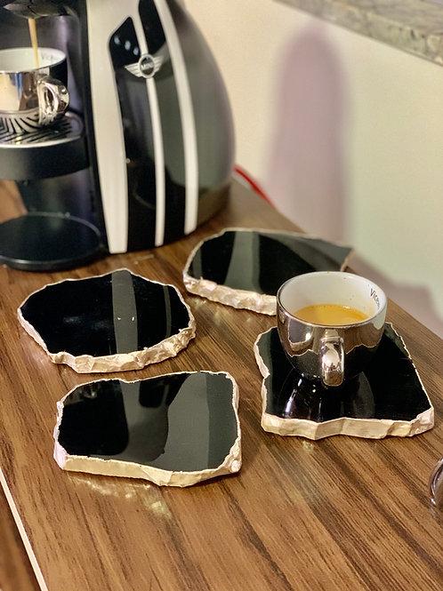 Porta-copos Obsidiana Preta
