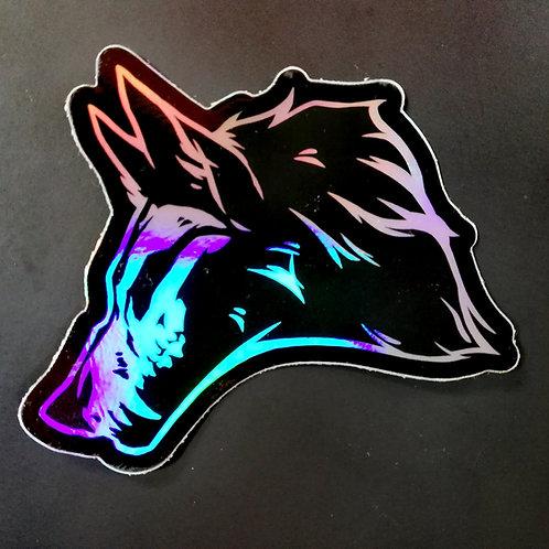 Wolf Skull -  HOLO vinyl sticker
