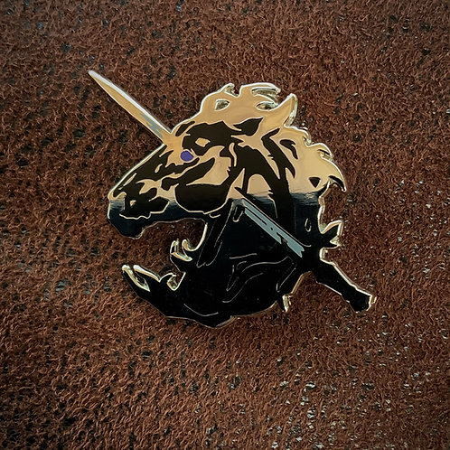 Unicorn's Blood 'Black' - Hard Enamel pin