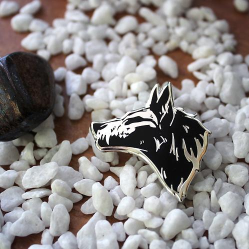 Wolf Skull - Hard Enamel Pin