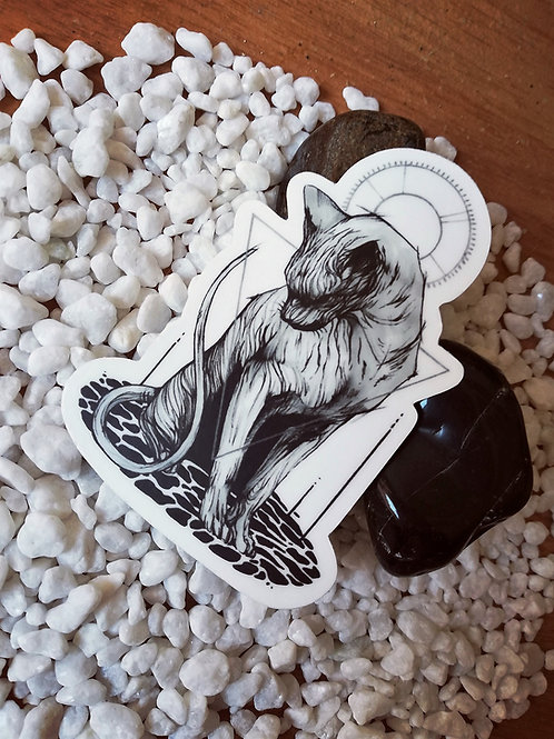 Sphynx - White vinyl stickers