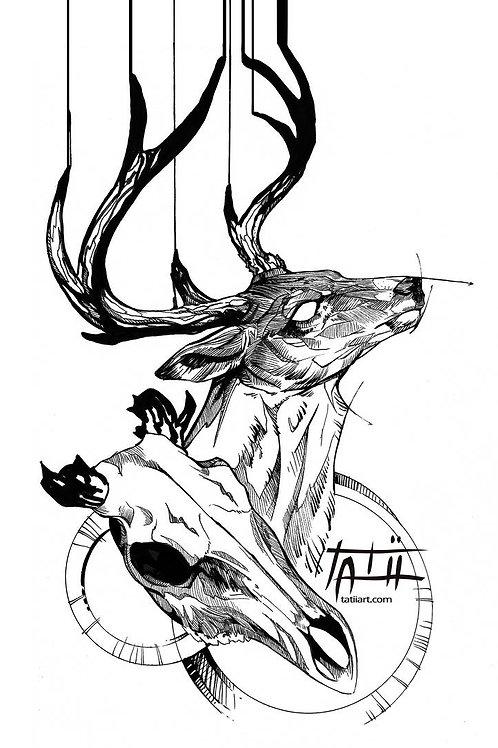Deer Skull - ORIGINAL