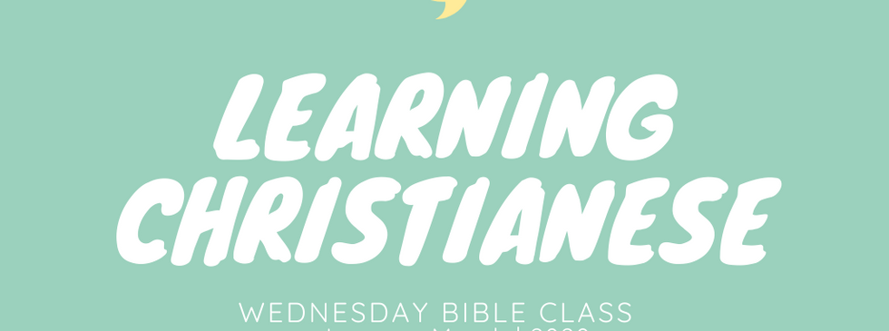 Learning Christianese