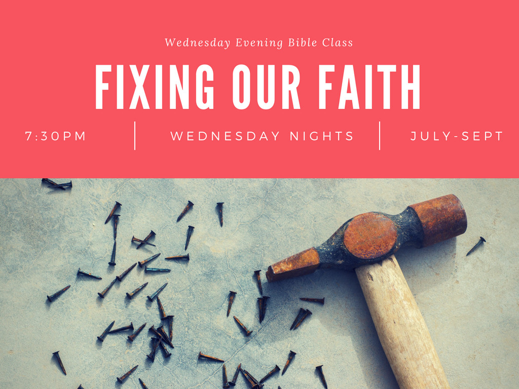 Fixing Our Faith