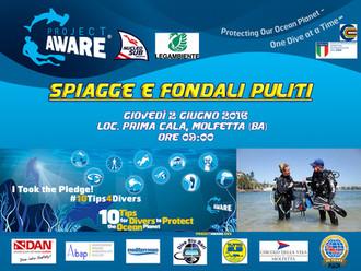 Spiagge & Fondali Puliti 2016 - Dive Against Debris Project Aware
