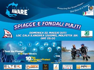 Spiagge & Fondali Puliti 2017 - Dive Against Debris Project Aware