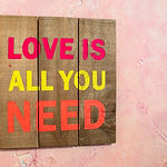 Canva - Love Is All You Need Text on Pin