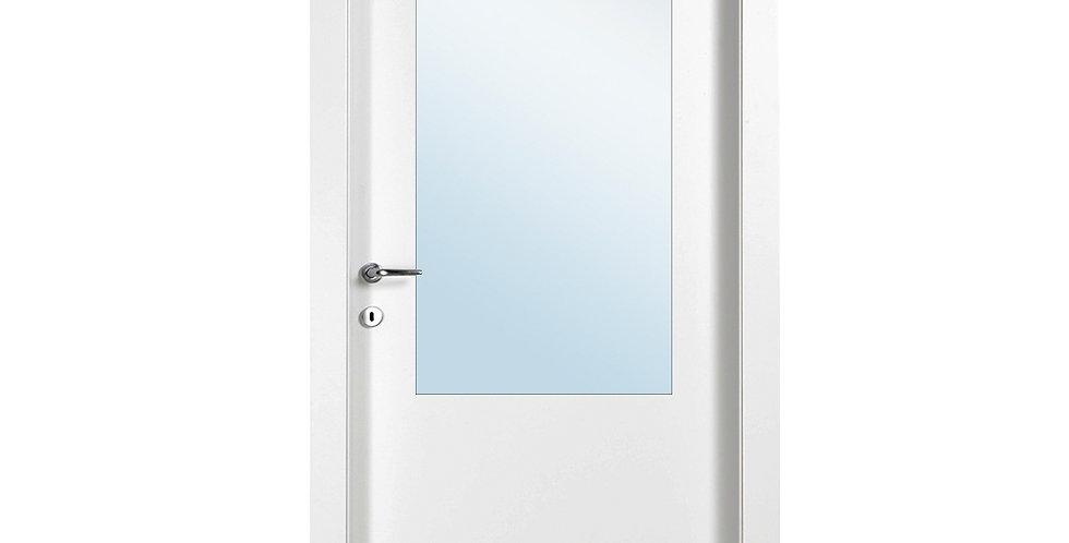 דלת פנים למינטו עם חצי צוהר יפני עם חלוקה
