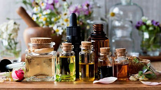 Essential Oil clear unmarked bottle coll