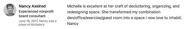 Nancy Axelrod's LinkedIn Testimonial on.