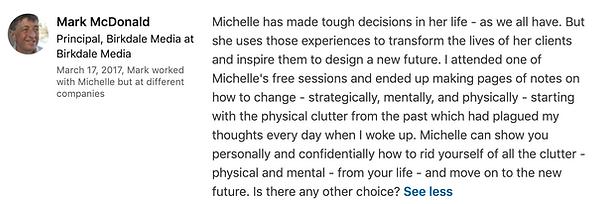 Mark McDonald's LinkedIn Testimonial on