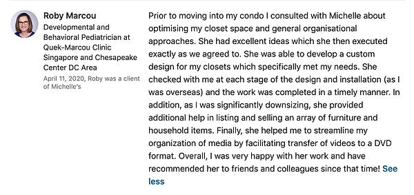 Roby Marcou's LinkedIn Testimonial on 4: