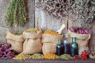 healing-herbs-hessian-bags-bottles-essen