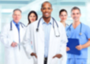 Medical physician doctor man and group of business people..jpg