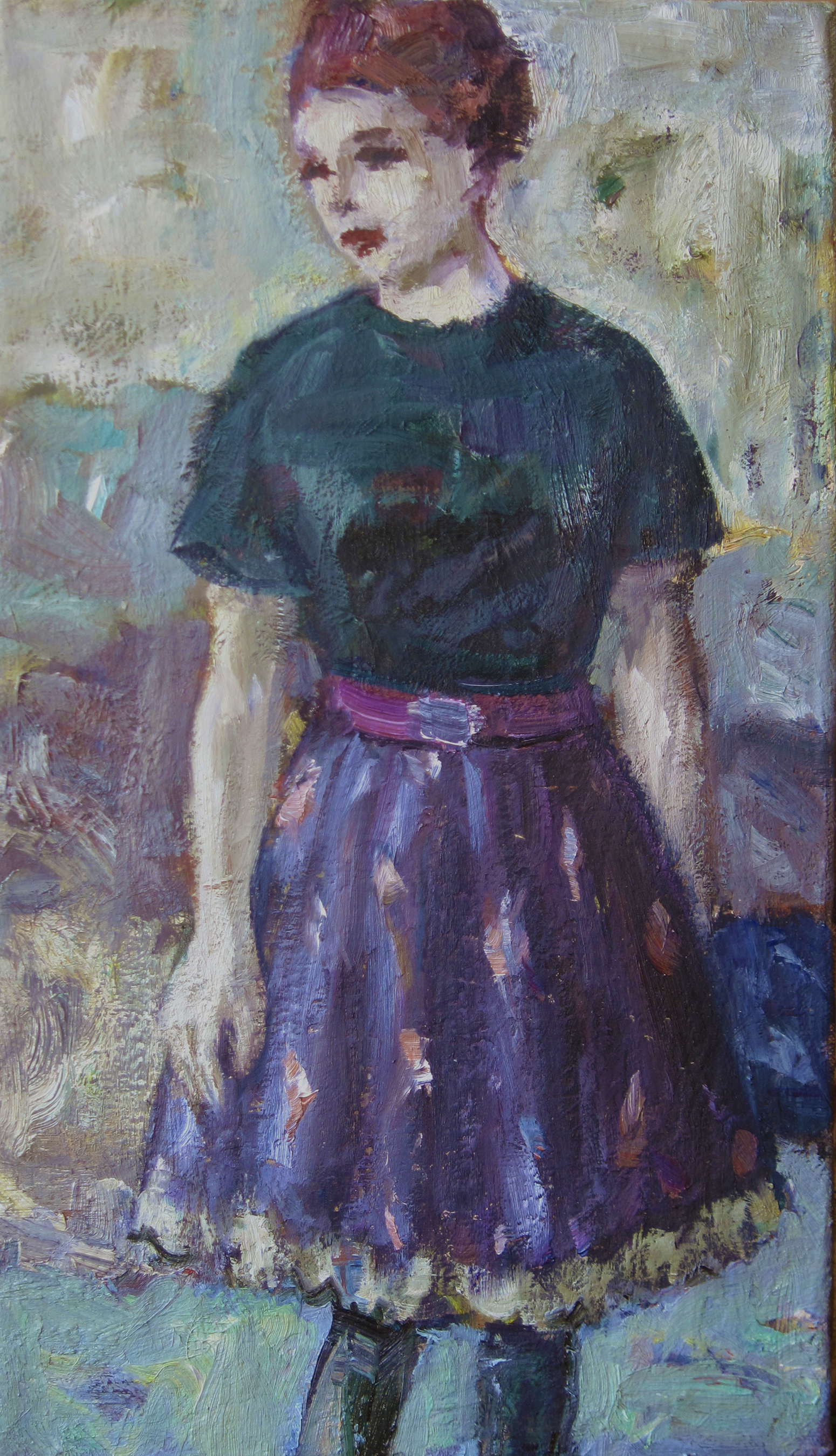 Young Girl With Full Skirt