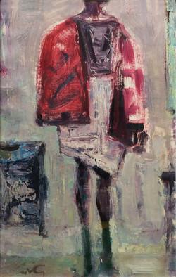 Model in Red Coat