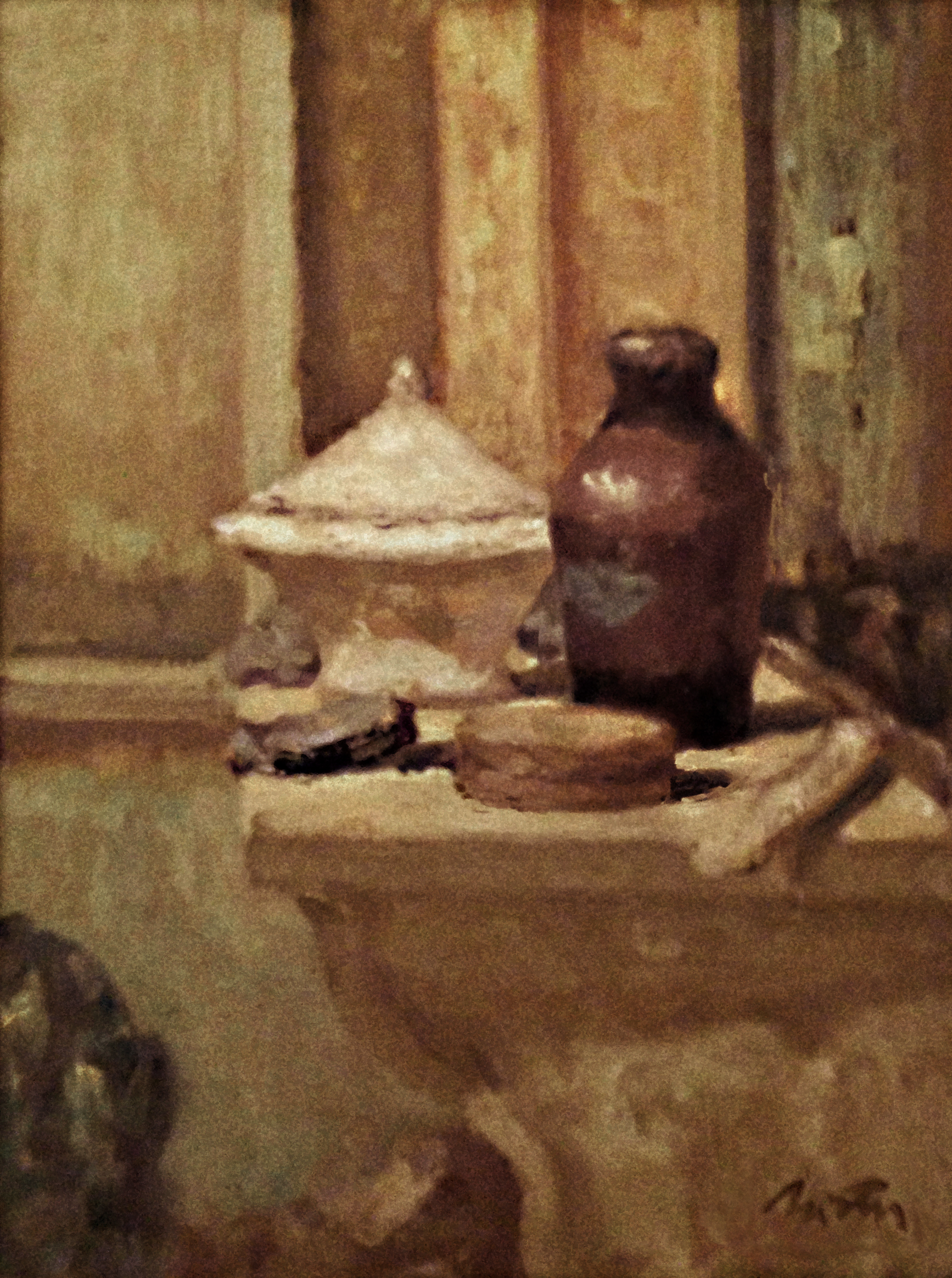 Objects on Mantelpiece