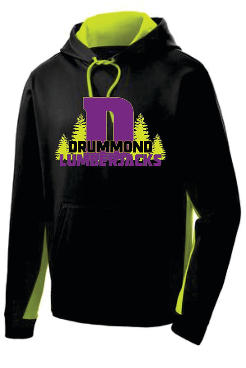 Drummond Neon Dri-fit Embroidered Hoodie