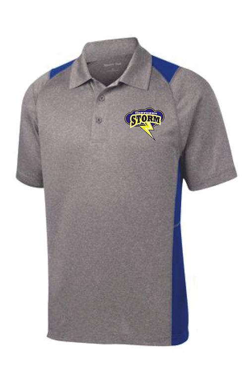 Storm Gray Colorblock Polo Shirt