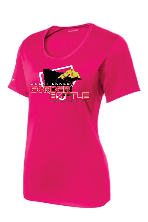 GLBB Sport-Tek Ladies Scoop Neck Dri-Fit Tee