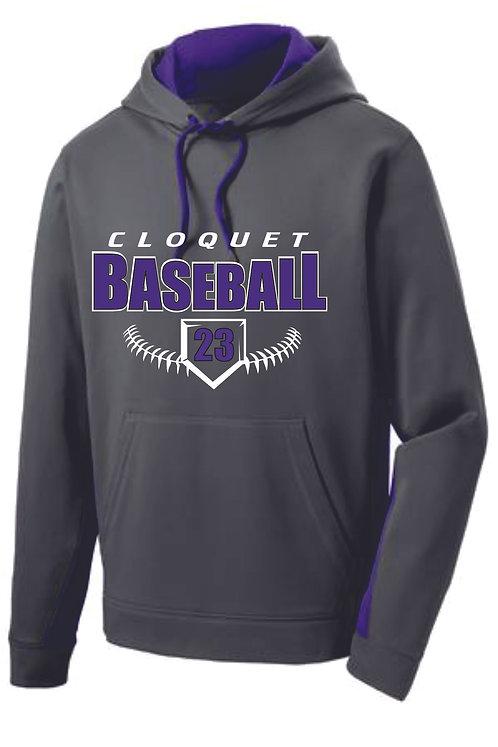 Cloquet Baseball Drifit Hoodie