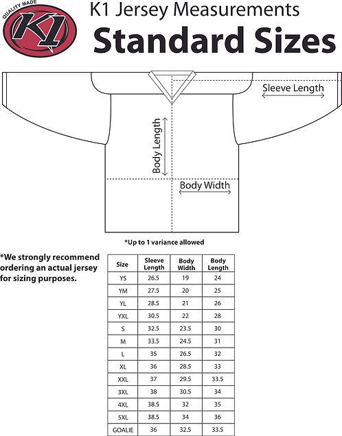 Jersey Sizing Chart