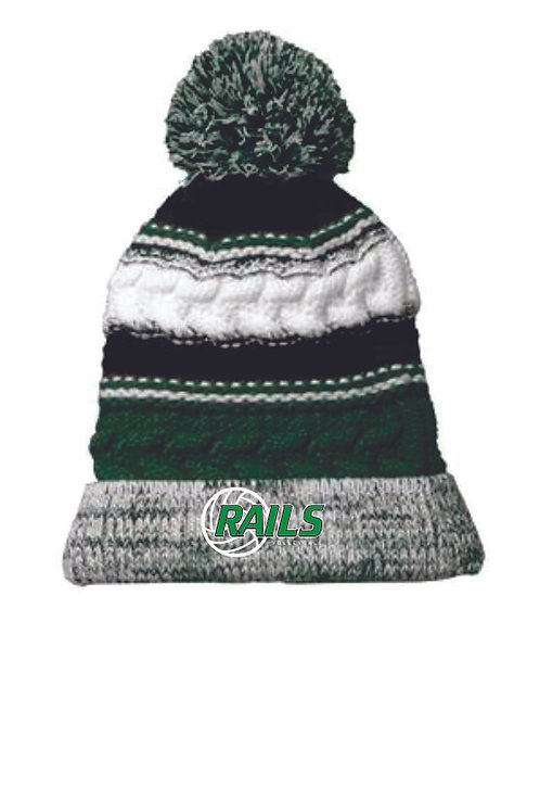 Rails Volleyball Pom Pom Beanie