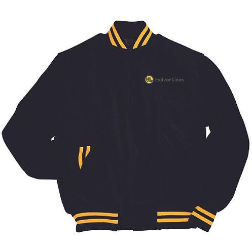 Halvor Lines Leather Sleeve Varsity Jacket