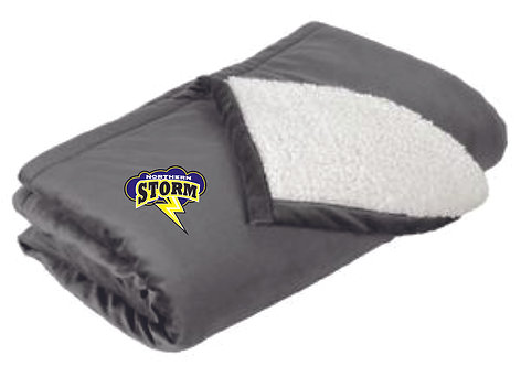 Storm Embroidered Blanket