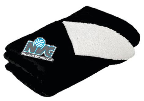 NVC Black Fleece Blanket