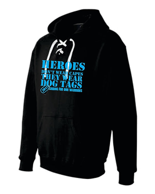 WARRIOR HOODED SWEATSHIRT WITH LACES