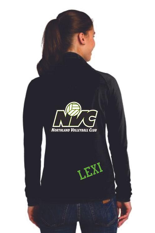 Ladies Black Volleyball Mom Jacket