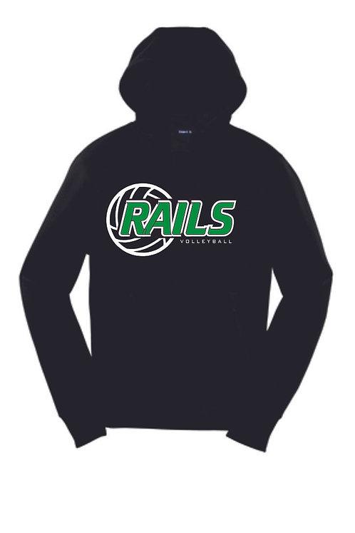 Rails Volleyball Black Hoodie