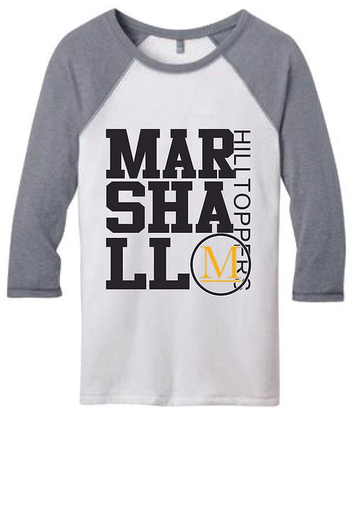 Marshall Juniors 3/4 Sleeve Raglan Shirt